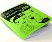 TWIN PEAKS Colouring Book - by danadamki, GREEN