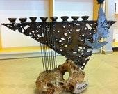 Kings david's Harp Menorah by Reuven Gafni