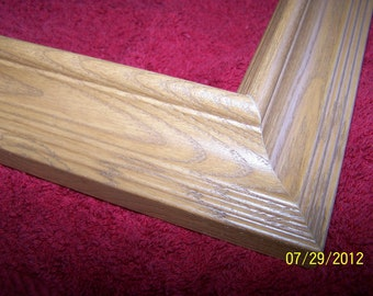 3 ~ 12 x 16 Picture frames ~ Medium shade of Oak ~ Ready to Ship