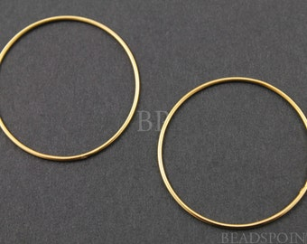 24K Gold Vermeil over Sterling Silver, Small Round Circle Link Elegant Modern Lovely Jewelry Component Finding, 1 PIECE (VM/697/32)