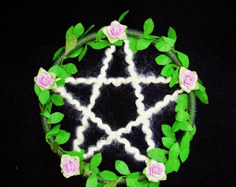 Large Lavender Rose Pentacle