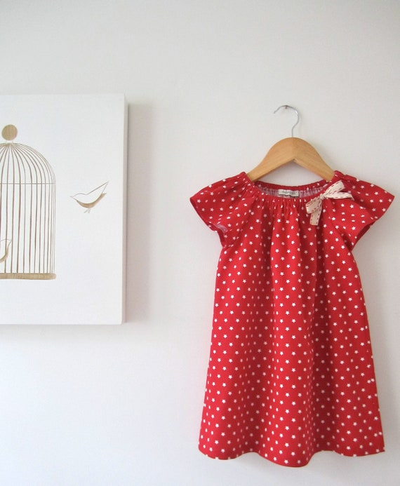 SALE ONLY ONE 30% Toddler Girls Dress-Red with by ChasingMini
