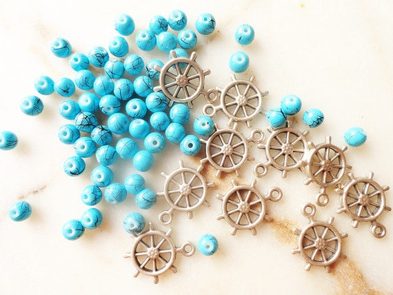RESERVED FOR JENNIFER - 20 ship wheel charms