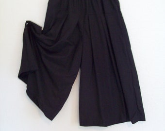 Black Culottes Girls Size 8 Modest Split Skirt