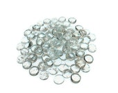 Clear Glass Gems Cabochons - Set of 10 - Clear