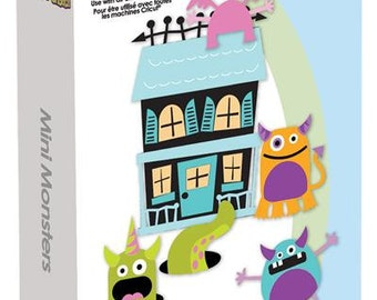 MINI MONSTERS -  CRICUT Cartridge for HALLoWEEN  -  Sealed and  New in Pkg - Retired and Scarce !!