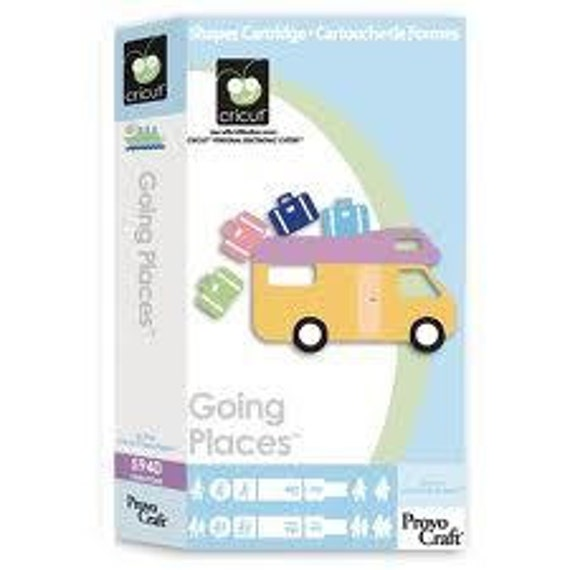 Cricut Cartridge - GOING PLACES -  VACATION Icons in a Great Cartridge - New and Sealed - Retired