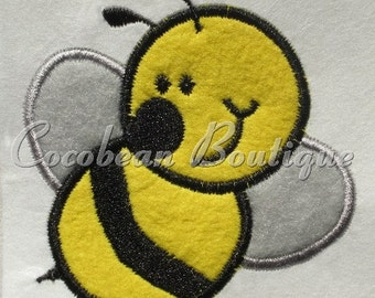 Bumble Bee embroidery applique