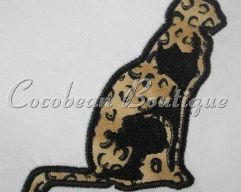 Cat embroidery applique