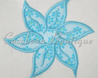 Flower embroidery applique