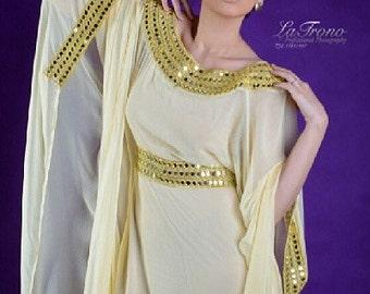 Caftan chiffon maxi dress