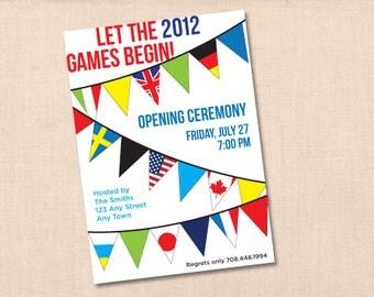 2016 RIO OLYMPICS personalized printable party invitation DIY