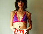 crochet bikini top. purple berry. made to order in your size