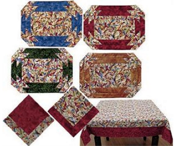 Table Graces Pattern to Make DIY Sewing Jean Dunn, Tablecloth, Placemats, Napkins, Table Cloth