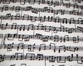 2 yards of sheet music fabric