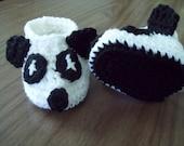 Panda Bear Crochet Booties