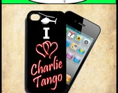 iPhone 4 Case - 50 Shades of Grey I Love Charlie Tango New Plastic Fitted Case For iPhone 4 & iPhone 4S