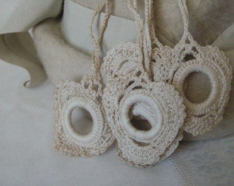 Vintage Crocheted Shade Pulls Ivory 1930's