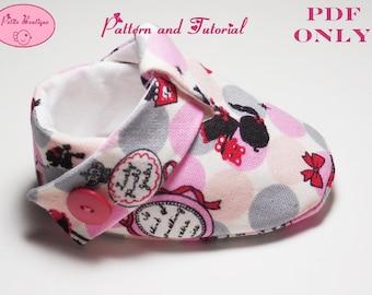 Baby shoe pattern - Little Girl Emme Shoes