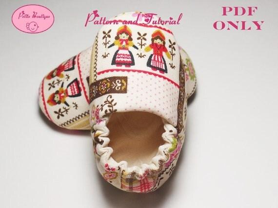 Baby shoe pattern - Dutch Girl Sneaker Shoes