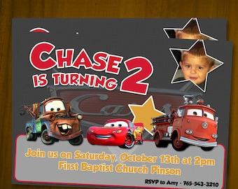 Disney/Pixar Cars Birthday Invitations / Digital File / You Print
