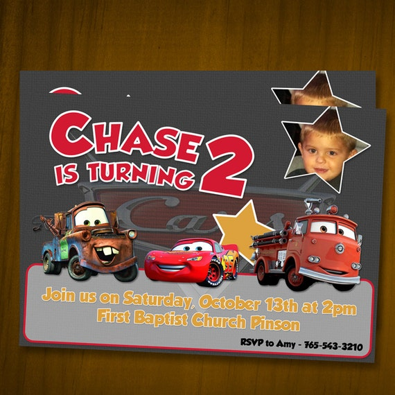 disney/pixar cars birthday invitations / by anthonypingicer, Birthday invitations