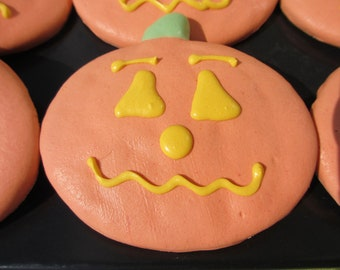 Gourmet Dog Treats - Pumpkin Decorated Dog Treats