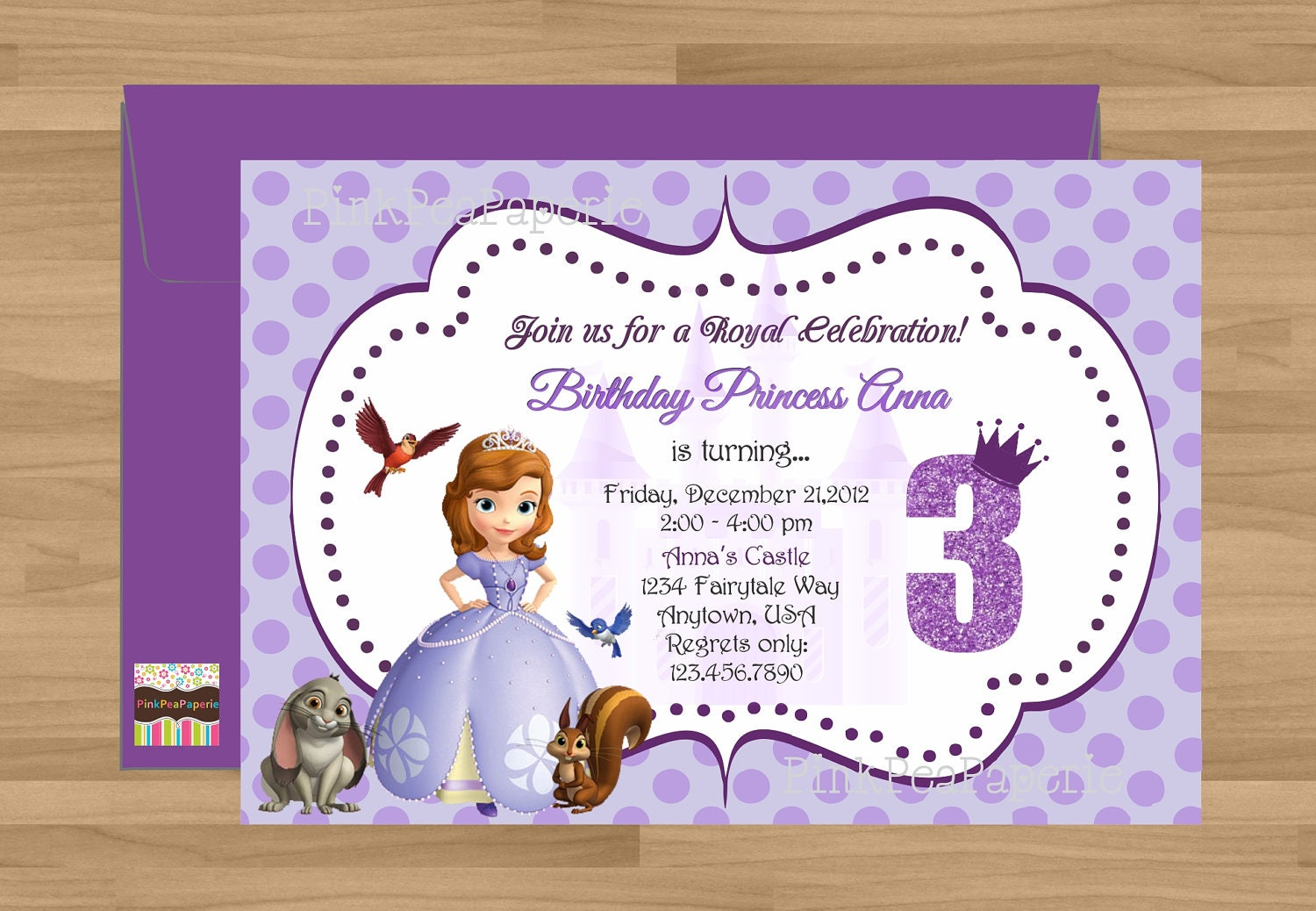 sofia the invitations printable - 28 images - sofia the printable ...