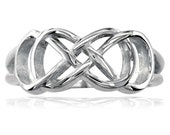 Sterling Silver Double Infinity Ring, Best Friends, Sisters, 8mm Wide