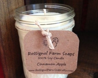 Cinnamon Apple Soy Candle in 8oz Jelly Jar