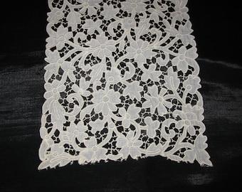 Embroider Lace Venice Silk Wide Antique Applique