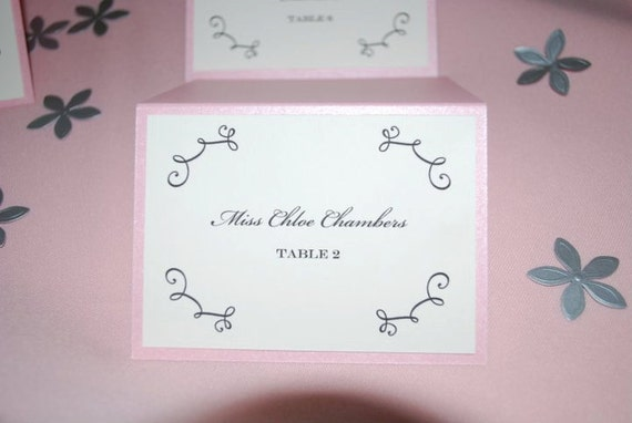 PLACE CARD - Double Layer for Boy or Girl Christening or First Birthday Placecard - Escort Card - Personalized with Colors, Name, & Table