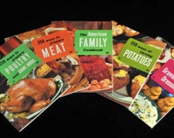 5 VINTAGE Culinary Arts Institute Cook Booklets  Instant Collection Meat and Potatoes Lot of 5