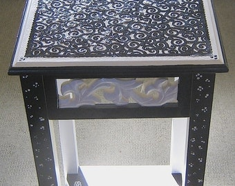Nightstand in Black and white