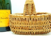 Vintage Petite Wicker Basket-FREE Shipping-French Country Home Decor
