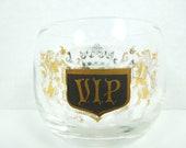 Vintage Barware-Mad Men Style Lowball Glassware-Set of Six-Mid Century VIP Rocks Glasses-Hollywood Regency