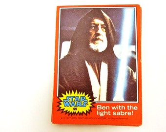 Star Wars Trading Cards Set of 16. Episode IV:  A New Hope. Circa 1977. Nerd Gifts. Birthday. Teacher. For the Star Wars Geek. Man Cave.