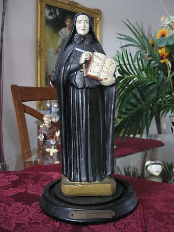 Antique 1939 St Francis Xavier Cabrini Statue On By Indianqueen