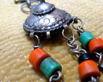 Grand Ornamental Boho Afghan Shawl Pin 1940s