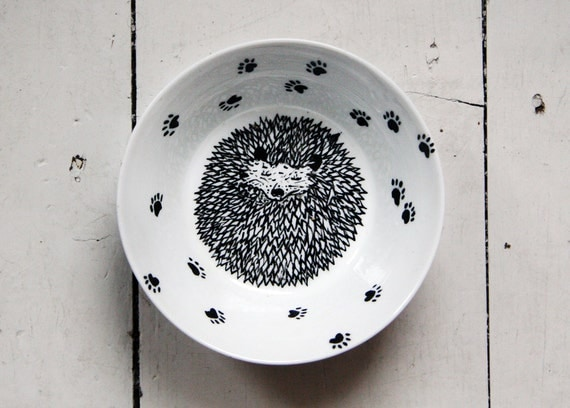 Bowl / Dish - Hedgehog love