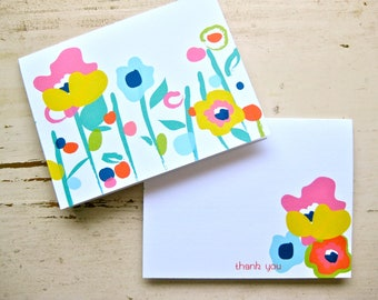 Pocket Full of Posey Blank Notecards - 2 Designs - Set of 8 - Personalization Available