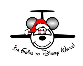 Christmas Disney Shirt Mickey Jet Personalized Custom Iron on Transfer Decal(iron on transfer, not digital download) Disney family shirts