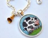 Cute Cow Pendant Necklace