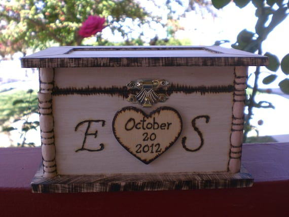 Rustic Wedding Ring Box Keepsake or Ring Bearer Box- Personalized Box