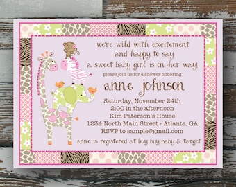 Jungle Jill Baby Shower Invitation - Printable
