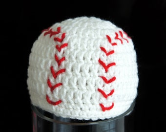 Baseball Hat, Softball, Sports Hat, Crochet Baby Hat, Baby Hat, photo prop