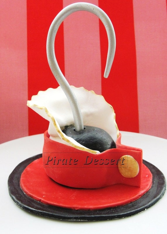 Edible Pirate CAKE TOPPER Captain Hook Pirate by PirateDessert