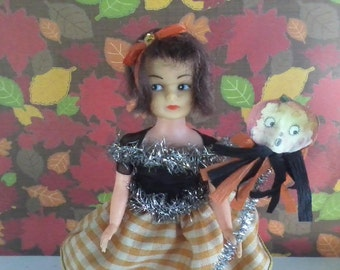 Small Vintage Halloween Doll