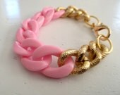 Powder Pink Chain Bracelet