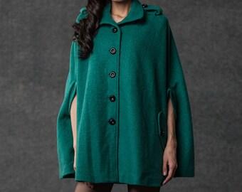 winter cape Wool blend jacket(C794)